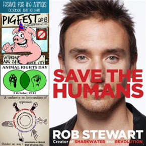 Author & Filmmaker Rob Stewart Wants to Save The Humans (And Everyone Else). Plus, Animal Rights Events Across Southern Ontario